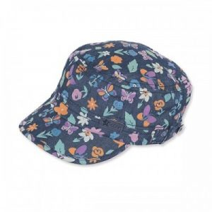 Letná bavlnená čiapka pre dievčatá s UV 50+ rifľová