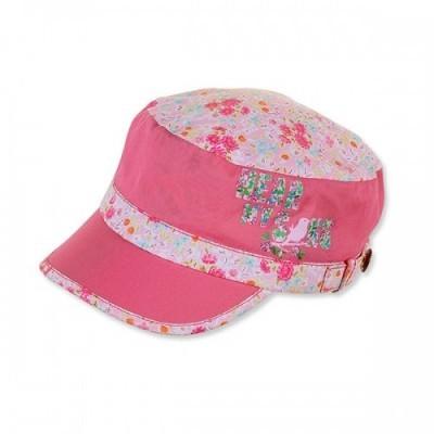 Letná bavlnená čiapka so šiltom pre dievčatá s UV 50+ ružová