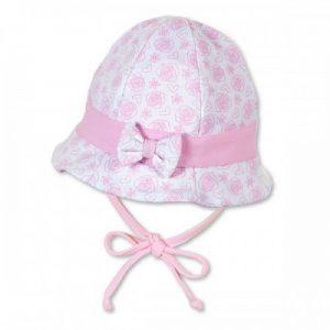 Letný bavlnený klobúčik pre dievčatká s UV 50+ ružový