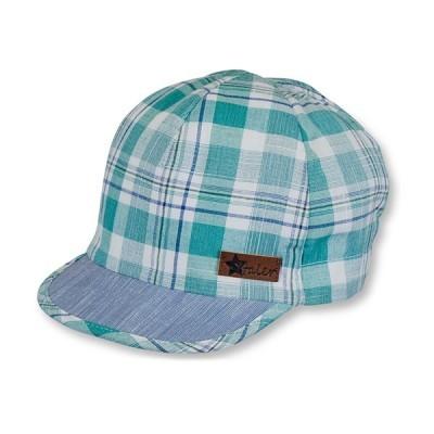 Letná bavlnená čiapka so šiltom a UV 50+ pre chlapcov zelená