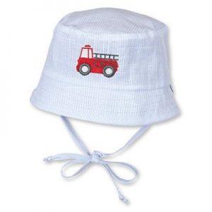 Letný bavlnený klobúčik pre chlapcov s UV 50+ svetlomodrý