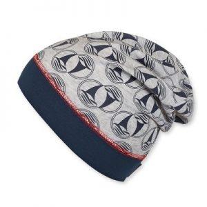 Jarná bavlnená čiapka s UV 50+ pre chlapcov šedá
