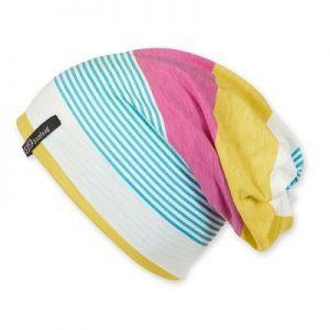 271f4bf64 Jarná bavlnená čiapka/šatka s UV 50+ pre dievčatá farebná