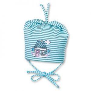 Jarná bavlnená čiapočka pre chlapčekov s UV 50+ modrá