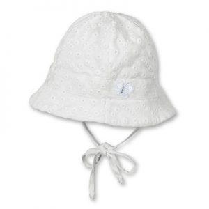Letný bavlnený klobúčik UNI s UV 50+ biely