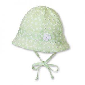 Letný bavlnený klobúčik UNI s UV 50+ zelený