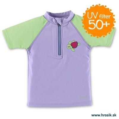 Tričko do vody s UV 50+ UNI fialovo-zelené