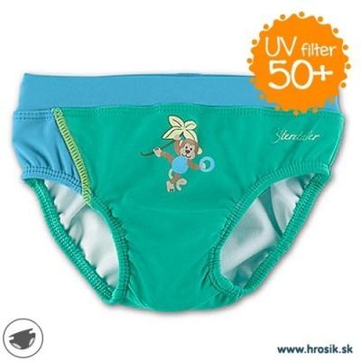 Plavky pre chlapcov s UV 50+ zelené