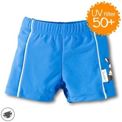 Plavky so všitými plienkami a UV 50+ pre chlapcov modré