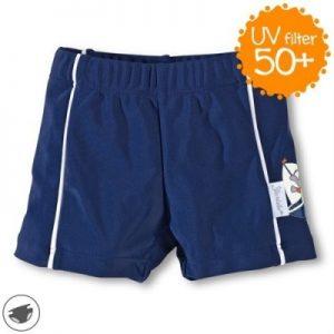 Plavky so všitou plienkou a UV 50+ pre chlapcov tmavomodré