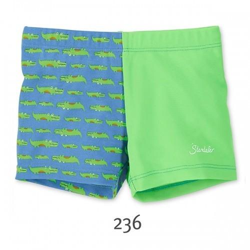 Plavky so všitou plienkou a UV 50+ pre chlapcov zeleno-modré