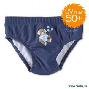Plavky slipy s UV 50+ pre chlapcov tmavomodré