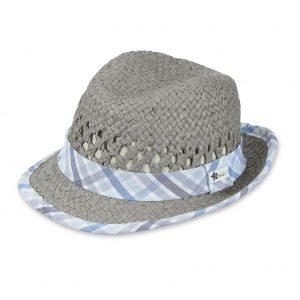 Letný klobúčik pre chlapcov šedý