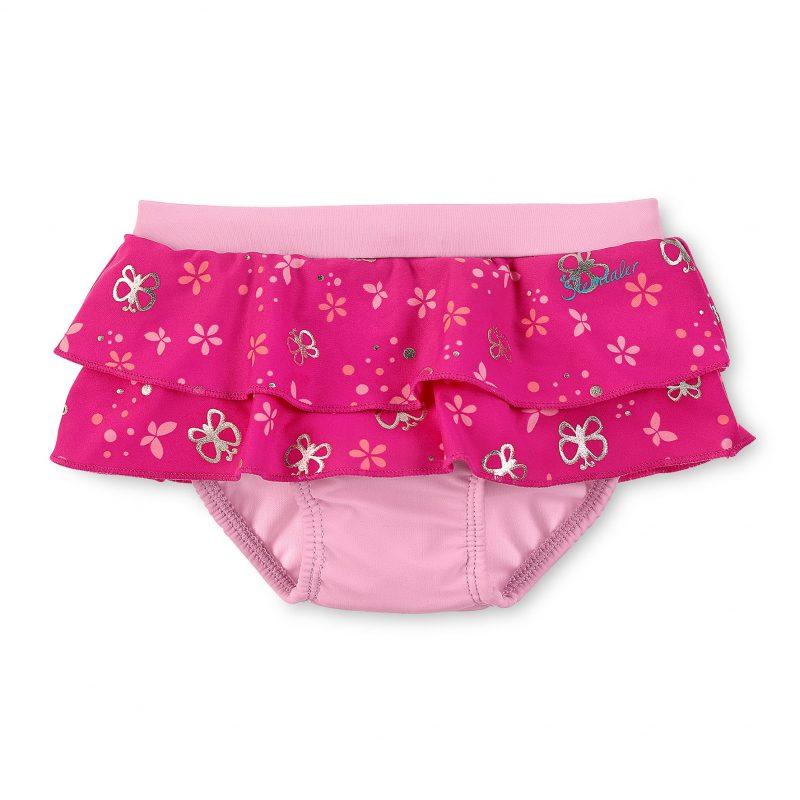 Plavky spodný diel s UV 50+ pre dievčatá ružové