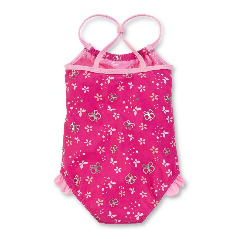 Plavky celé s UV 50+ pre dievčatá ružové