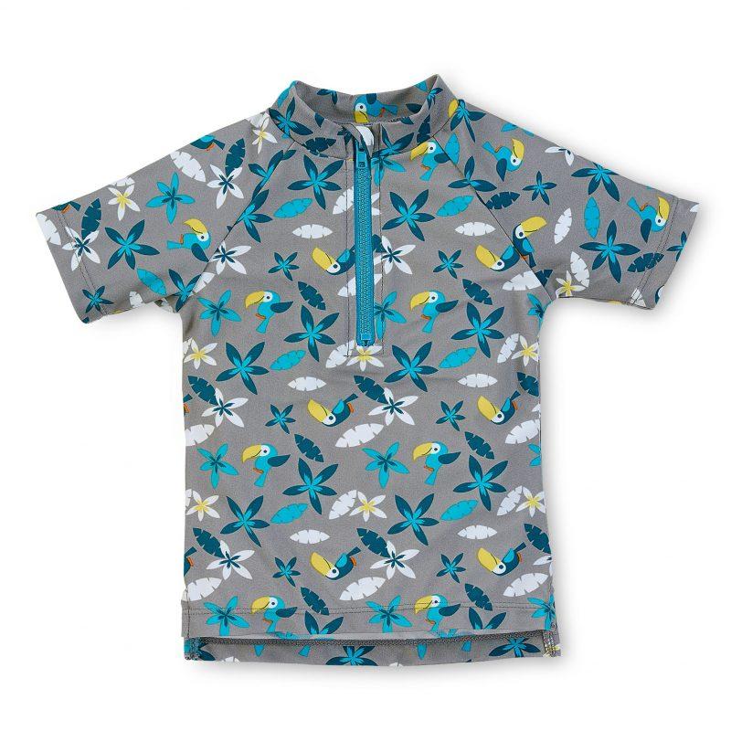 Tričko do vody s UV 50+ UNI sivé