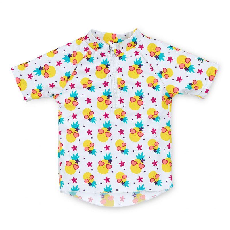 Tričko do vody s UV 50+ UNI biele