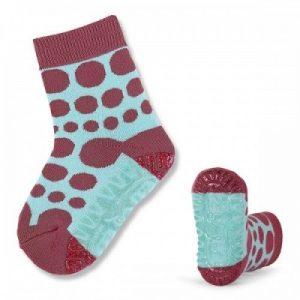 Protišmykové ponožky pre chlapcov modro-bordové