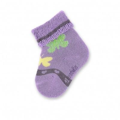Detské ponožky pre dievčatá s motýlikom fialové