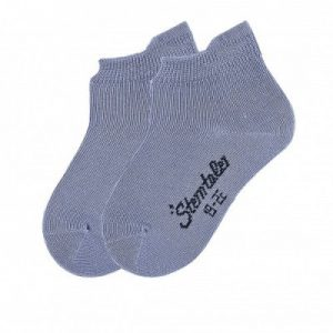 Jednofarebné ponožky pre chlapcov modré