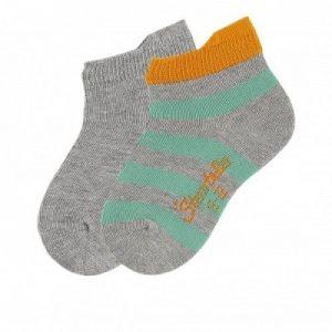 Ponožky pre chlapcov s pásikmi sivé