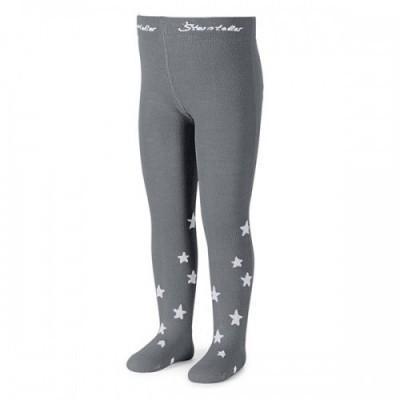 Pančuchy UNI s hviezdičkami šedé