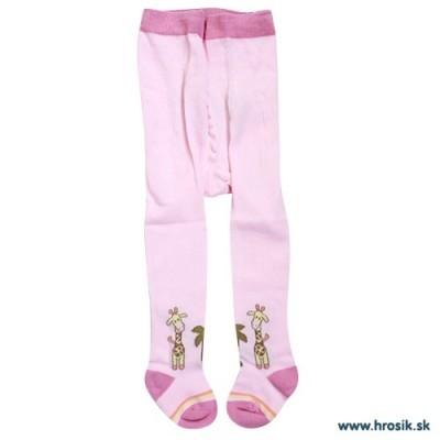 Pančuchy pre dievčatá so žirafou ružové