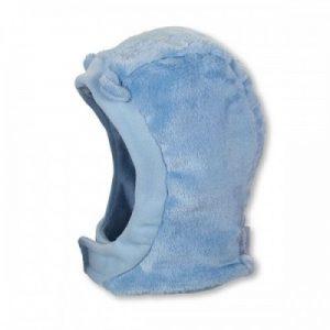 Kukla na zimu s úškami pre chlapcov modrá