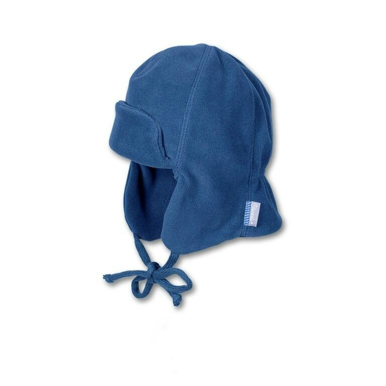 Baranica na zimu so šnúrkami pre chlapcov modrá
