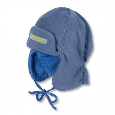 Baranica na zimu s reflexným prvkom pre chlapcov modrá