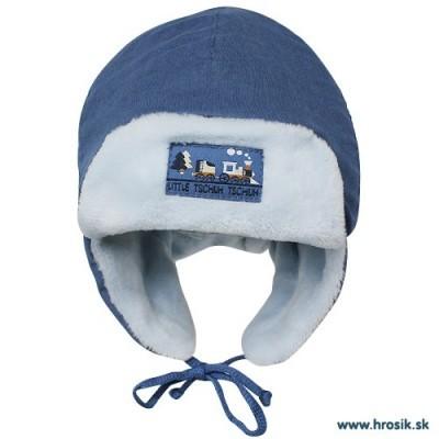 Baranička na zimu pre bábätká modrá