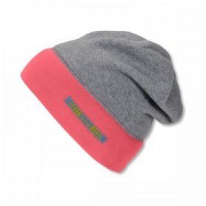 Jesenná čiapka s reflexným prvkom pre dievčatá sivá