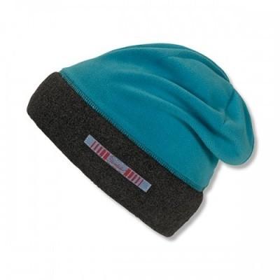 Jesenná čiapka s reflexným prvkom pre chlapcov modrá