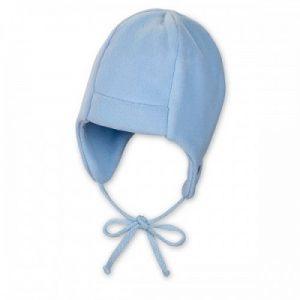 Zimná flisová čiapka pre chlapčekov modrá