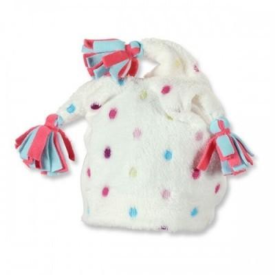 Zimná čiapka so strapcami pre dievčatá biela