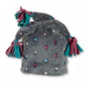 Zimná čiapka so strapcami UNI šedá