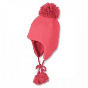 Zimná čiapka s brmbolcom na viazanie pre dievčatá lososová