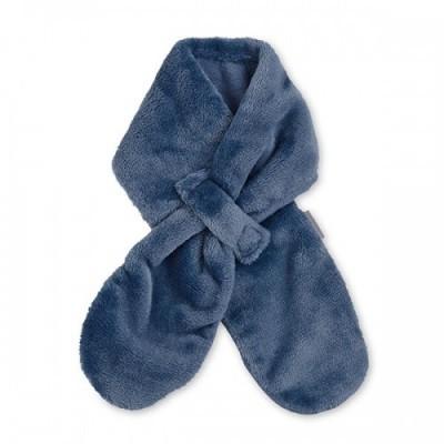 Detský zimný šál z plyšového flisu pre chlapcov tmavomodrý