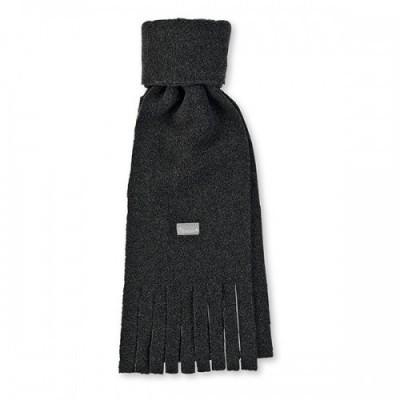 Detský zimný šál so strapcami pre chlapcov čierny