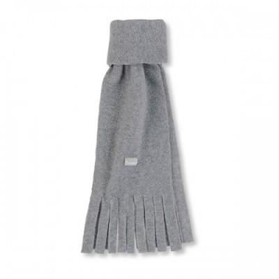 Detský zimný šál so strapcami UNI sivý