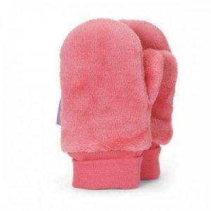 Detské zimné palcové rukavice pre dievčatá lososové
