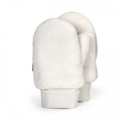 Detské zimné palcové rukavice UNI biele