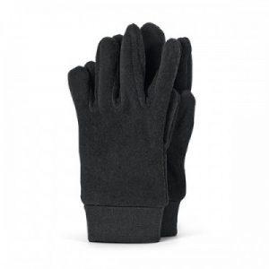 Detské zimné prstové rukavice pre chlapcov čierne