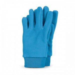 Detské zimné prstové rukavice pre chlapcov azúrovo-modré
