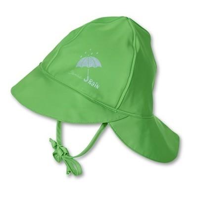 Nepremokavá čiapka s plachetkou pre chlapcov zelená