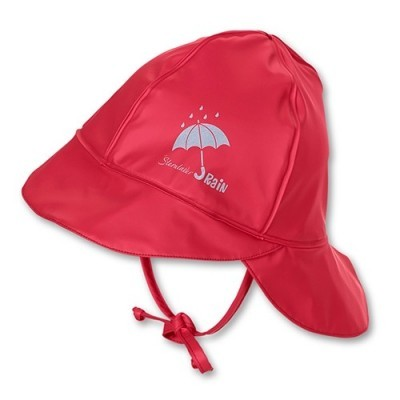 Nepremokavá čiapka s plachetkou UNI červená