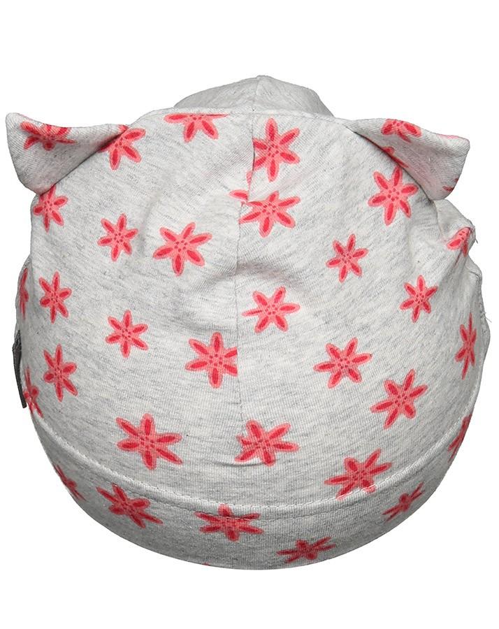 Jarná bavlnená čiapočka s UV 50+ pre dievčatká mačička