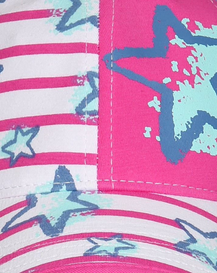 Letná bavlnená šiltovka pre dievčatá ružovo-biela