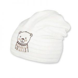 Jarná bavlnená čiapočka s UV 50+ UNI obojstranná béžová